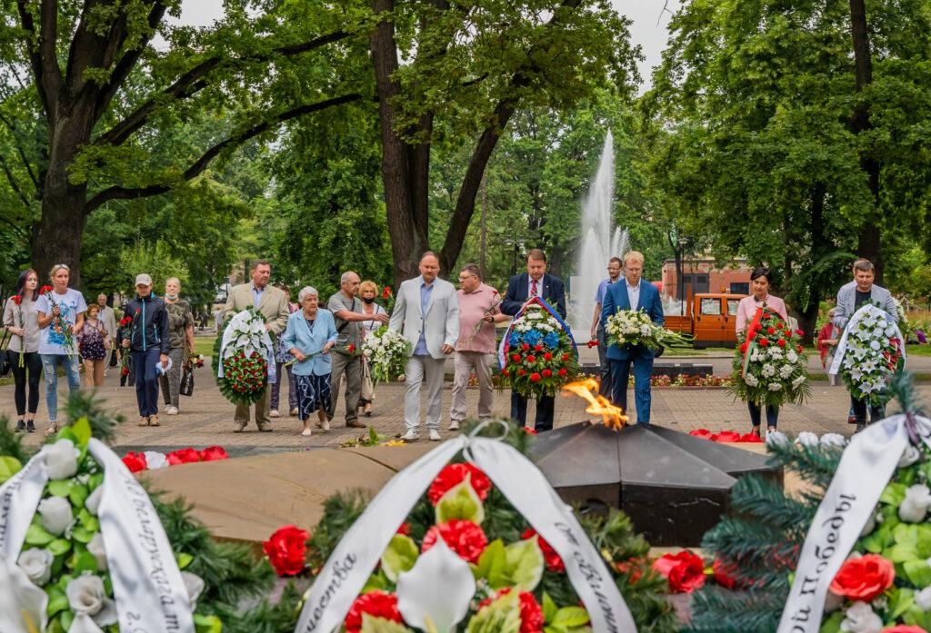 27 июля 2021 года — 77-я годовщина освобождения города Даугавпилс от немецко-фашистских захватчиков
